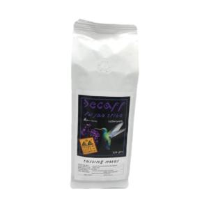 Decaff coffee filter ground